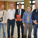 Biagio Amati con gli amici di Lucca United