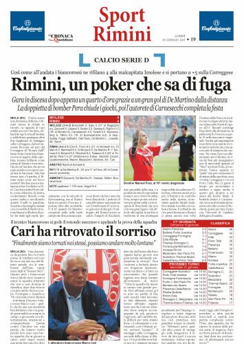 Nuovo Quotidiano di Rimini 19/01/2015