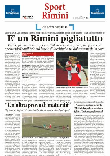 Nuovo Quotidiano di Rimini 26/01/15