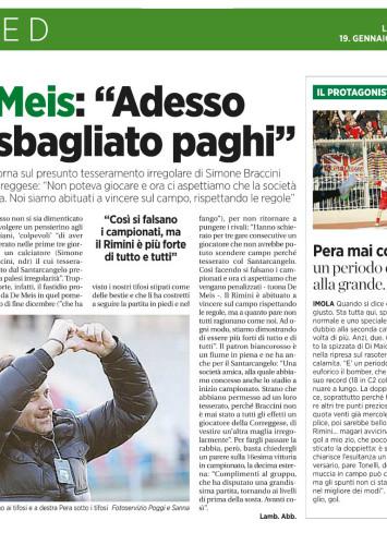 La Voce di Romagna 19/01/2015
